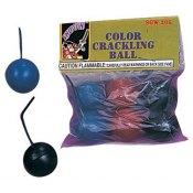 color crackling balls